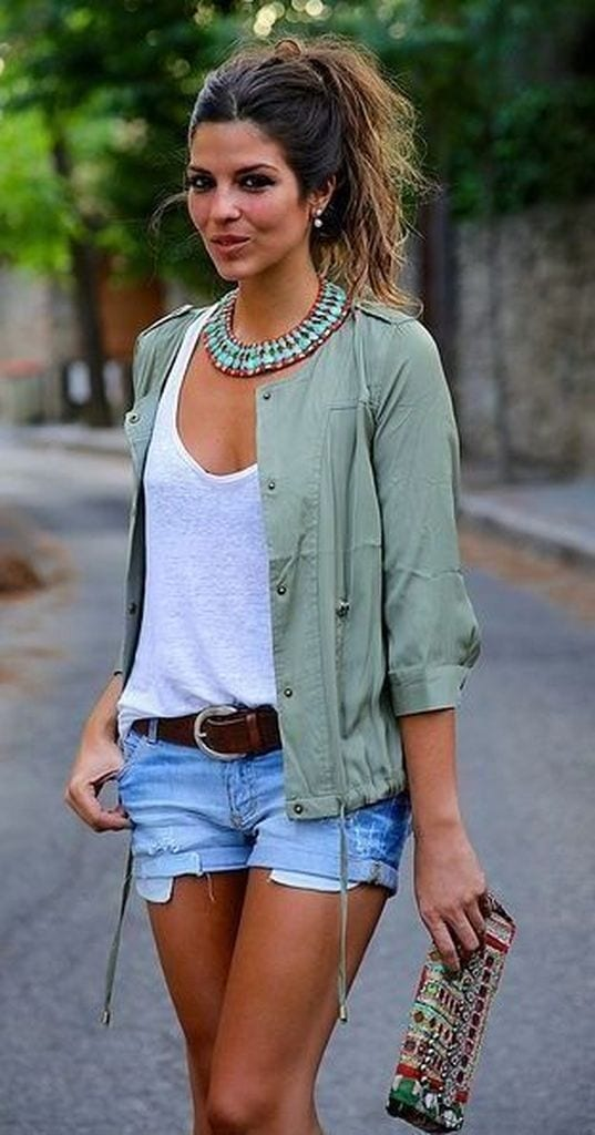Summer outfit with short denim