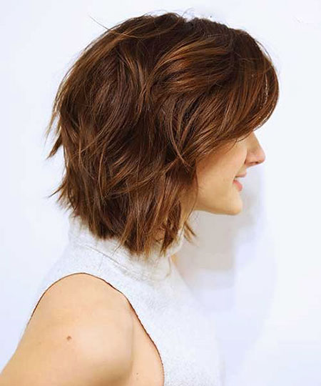 Bob Layered Caramel Brown