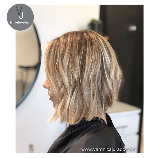 Balayage Short Hair Blonde
