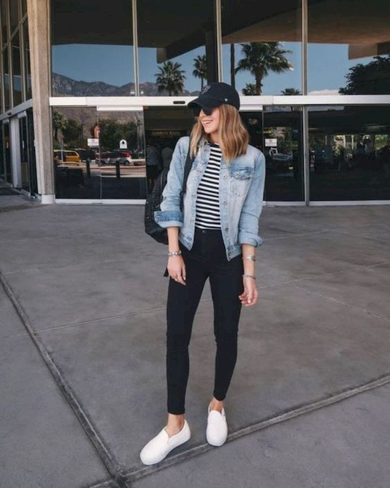 Spring outfit with white shoes