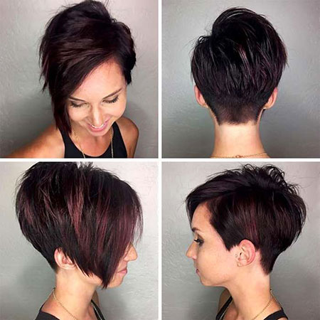 Short Hair Pixie Black
