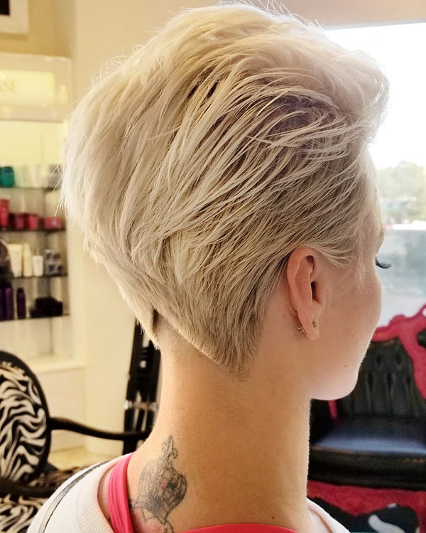 Very Short Blonde Hairstyles 2019