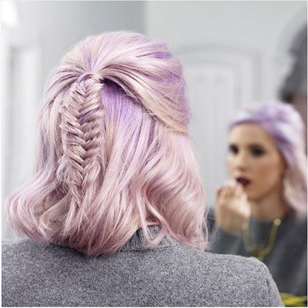 Short Cute Hairtyles, Short Hair Braid Fishtail