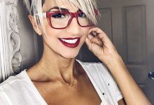 Pixie Cut Long Bangs