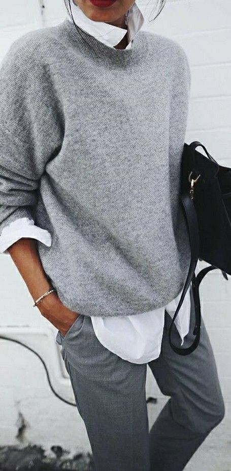 #fall #outfits / All Grey Outfit