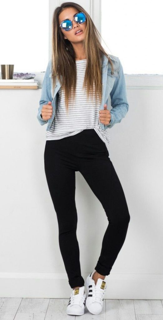 #fall #outfits / White Smoke Cashmere - Denim