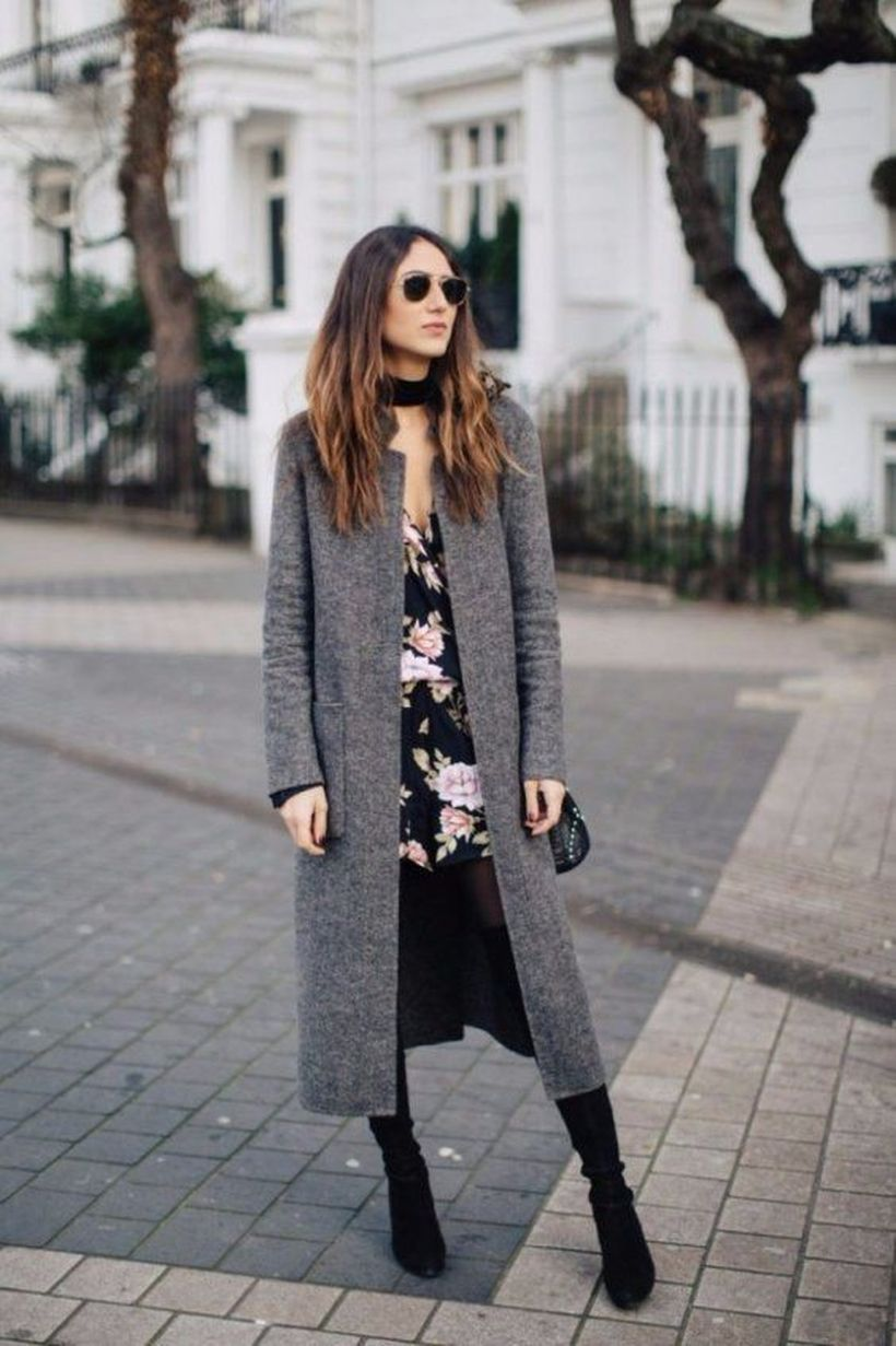 Long gray outer jacket