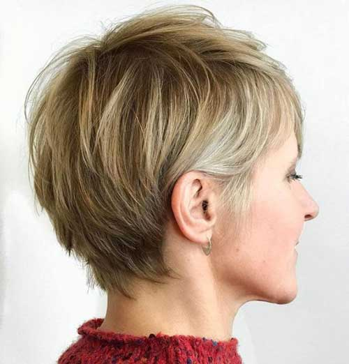 Cute Pixieshort Choppy Layered Hair-7