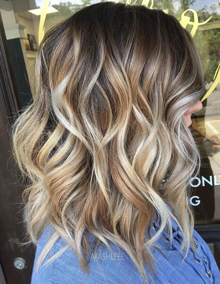 Length Wavy Blonde Shoulder