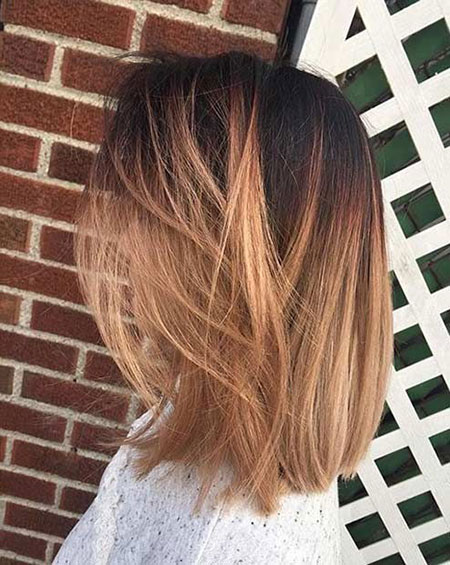 Balayage Lob Ombre Short