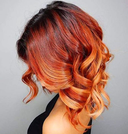 Red Ombre Copper Curly