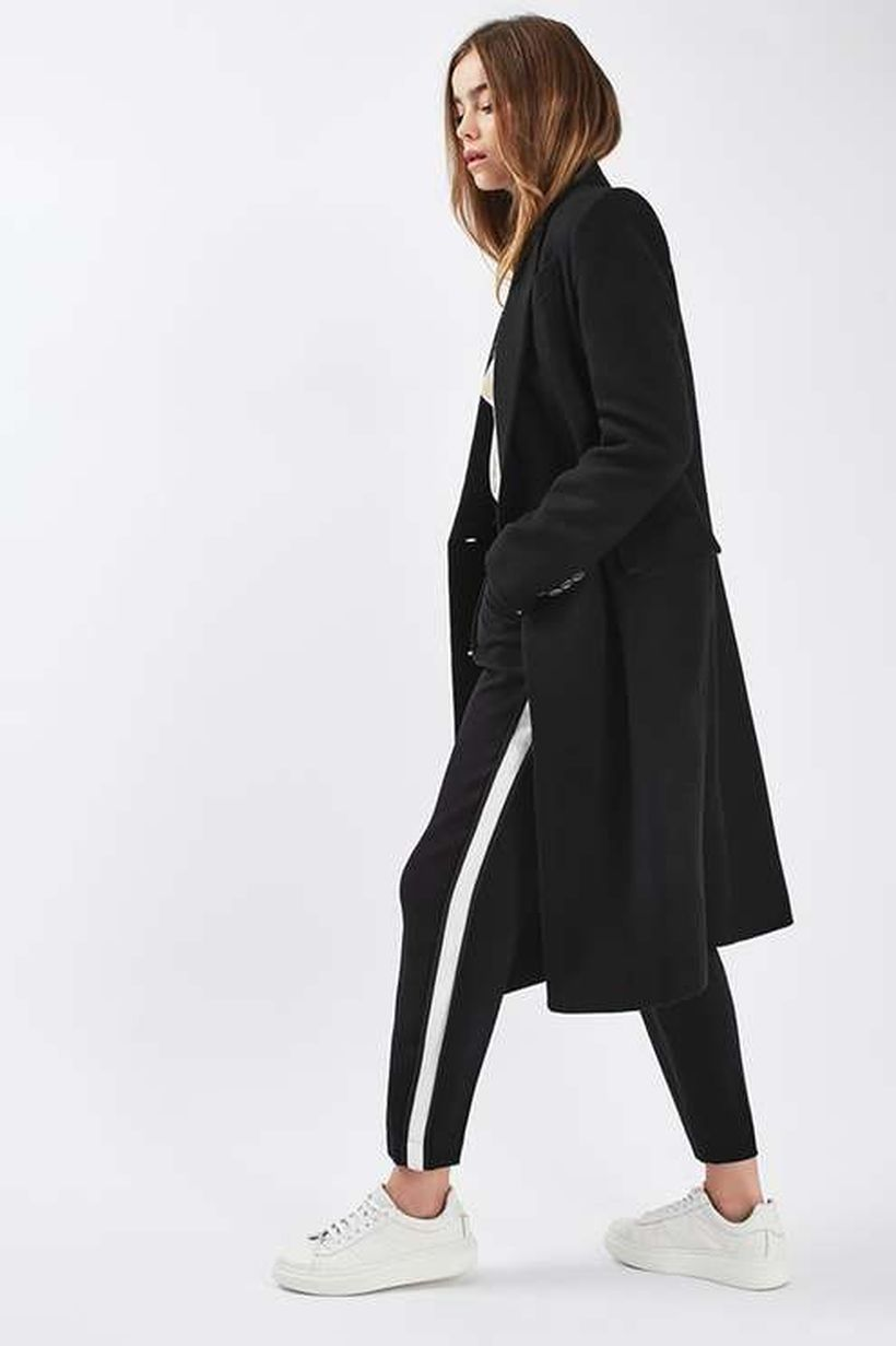 Long black outer jacket
