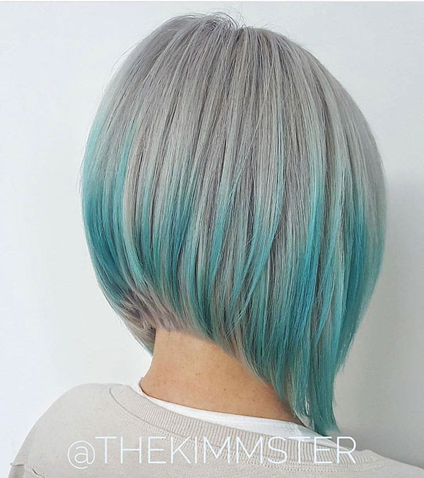 Light Blue Bob Hair