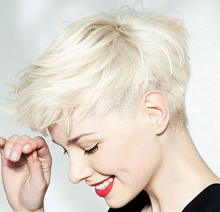 Short Pixie Blonde Women