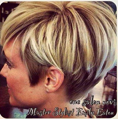 Layered Short Haircuts for Women Over 50, Short Bob Balayage 50