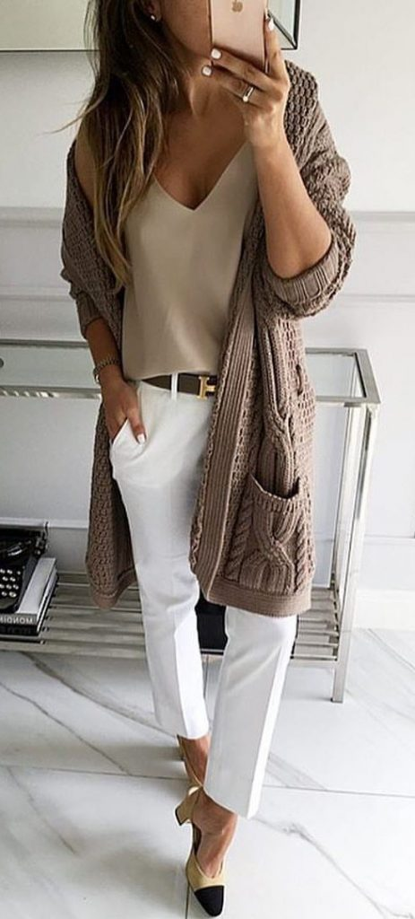 White Casual Pants