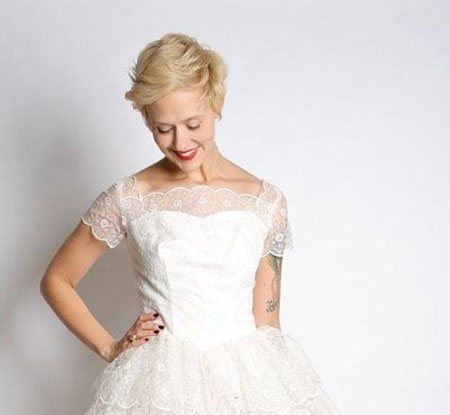19 Wedding Hairstyle Short Hair_9