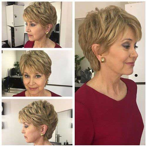 Modern Short Haircuts for Women Over 50-6