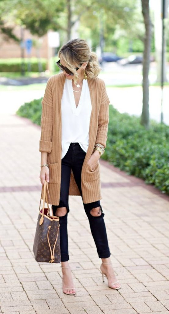 #fall #outfits / Green Long Sleeve Dress - Tall Boots