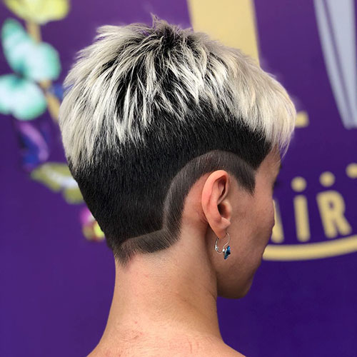 Short Two Hair Color