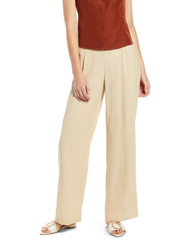 Brown-shirt-and-beige-trouser