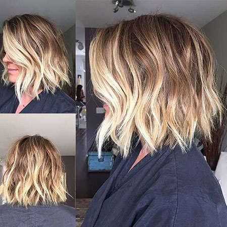 Bob Short Blonde Balayage