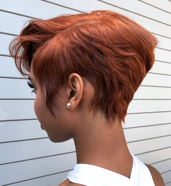Layered Pixie Cut For Black Hair