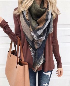 / Red Long Sleeve - Scarf
