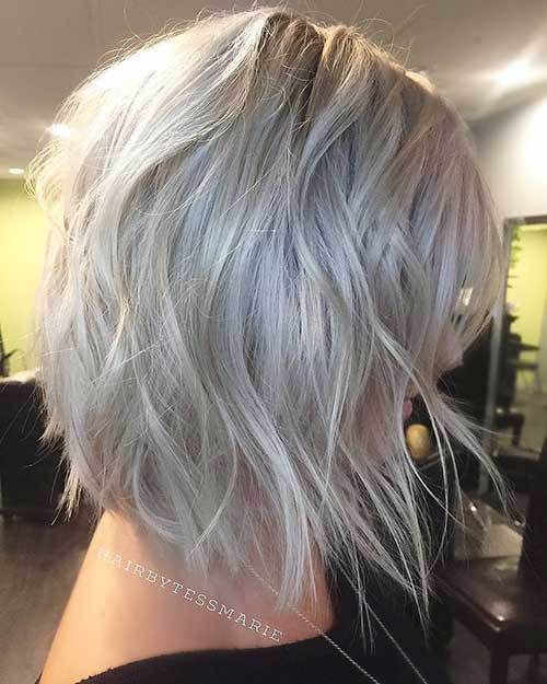 Inverted Short Choppy Layered Hair-8