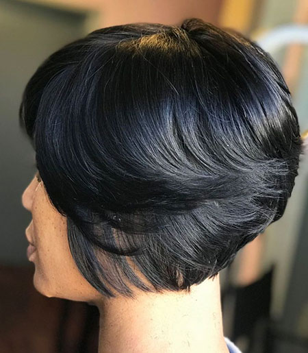 Brunette Short Bob, Bob Layered Black Women
