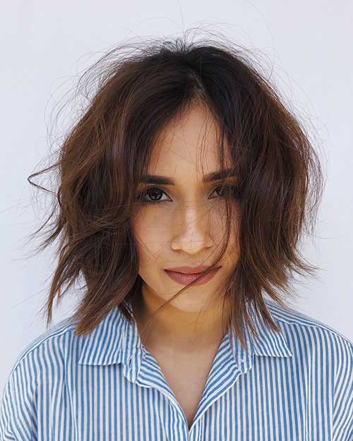 Short Messy Bobs For Fine Hair