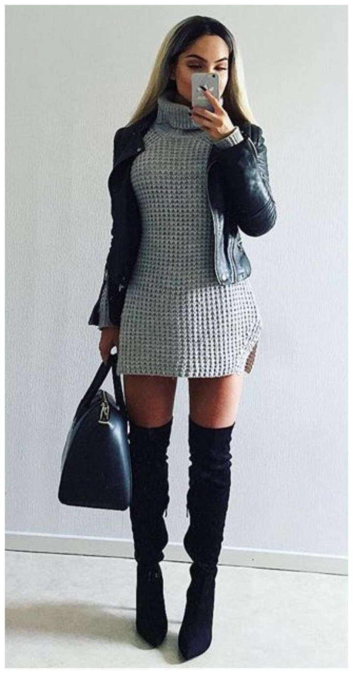 40+ ways to wear thigh high boots this winter 16