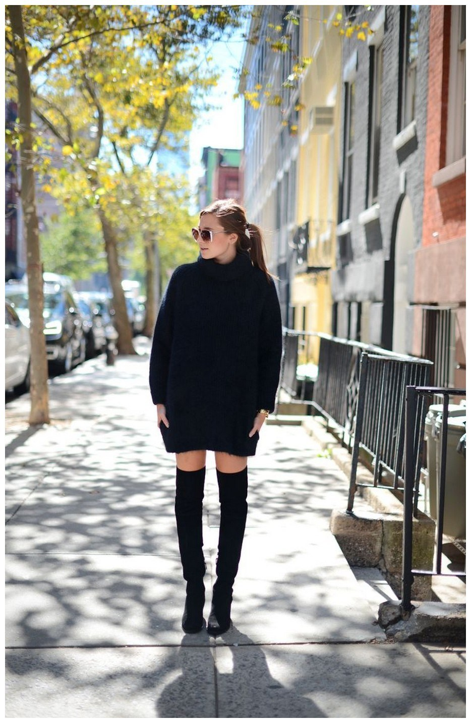40+ ways to wear thigh high boots this winter 13
