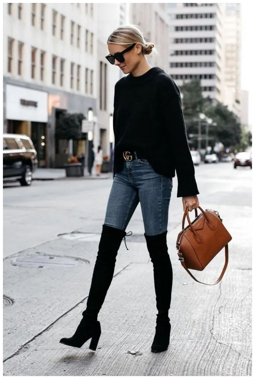 40+ ways to wear thigh high boots this winter 15