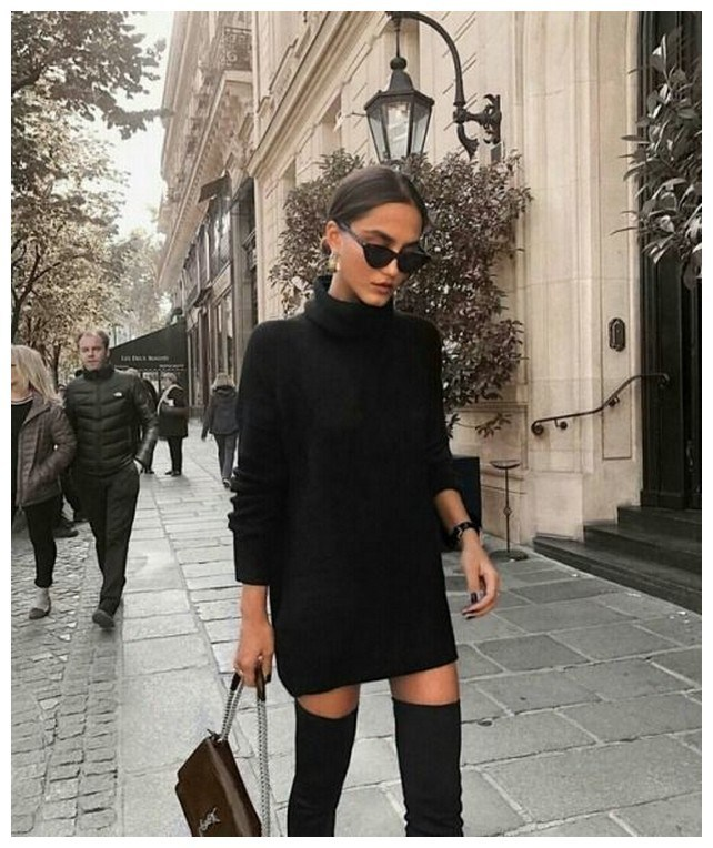 40+ ways to wear thigh high boots this winter 38