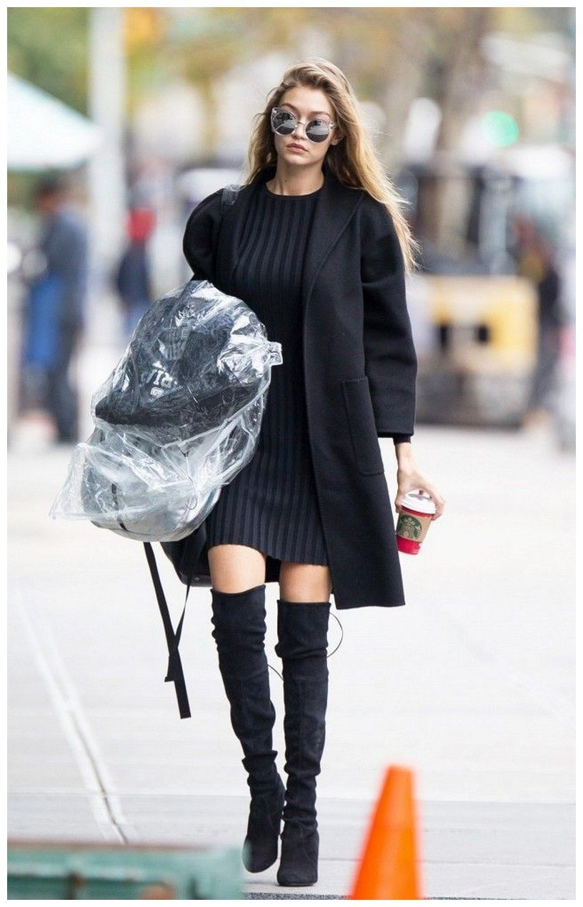 40+ ways to wear thigh high boots this winter 19