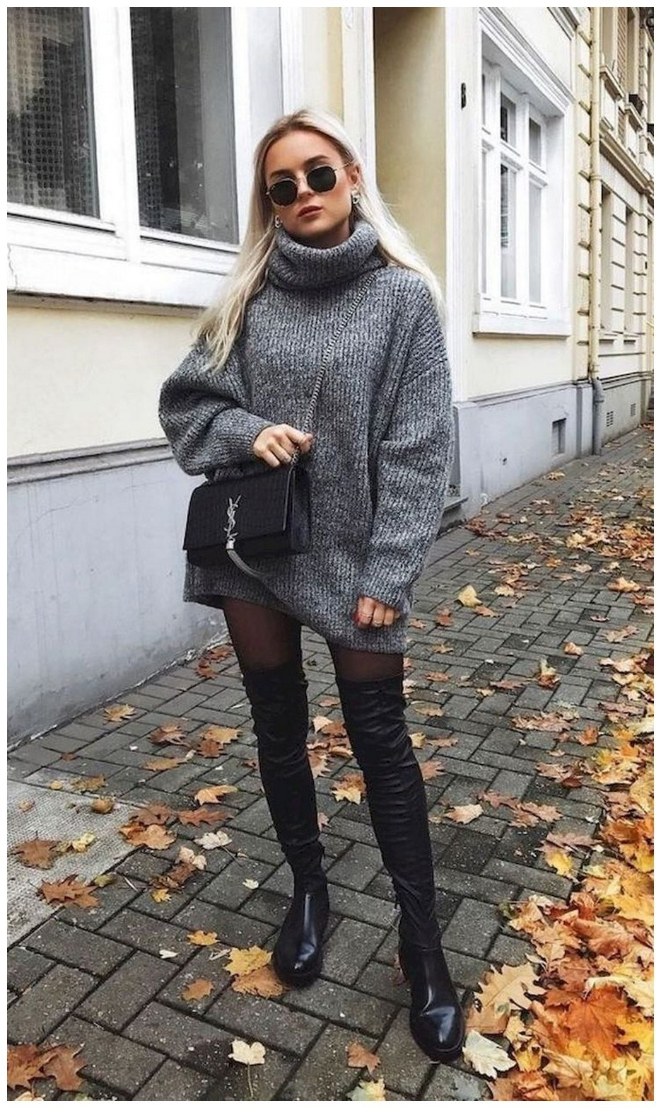40+ ways to wear thigh high boots this winter 47