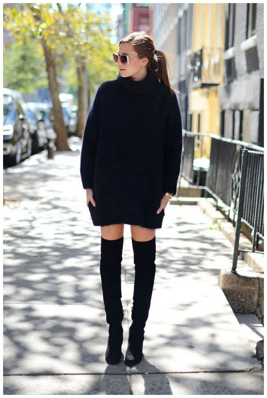 40+ ways to wear thigh high boots this winter 40