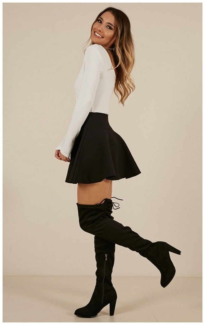 40+ ways to wear thigh high boots this winter 33