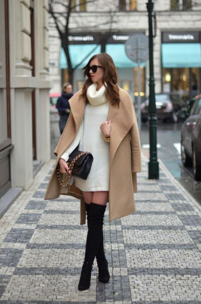 41+ combination for boots and coats this winter 5
