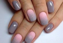 15 Warm and Classy Winter with Shades of Grey Nail Art