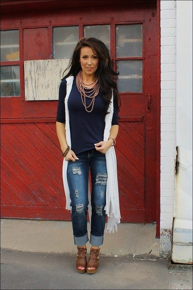 35+ stylish comfy casual spring outfits for women 17