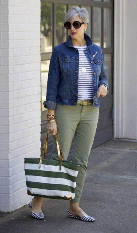 Denim Outfits for Women Over 50