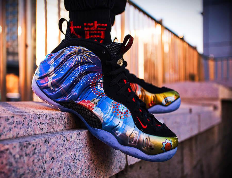 The Nike Air Foamposite One Chinese New Year OnFeet