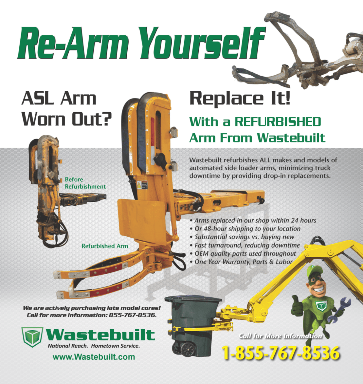 Automated Side Loader Arm Rebuild Program Flyer