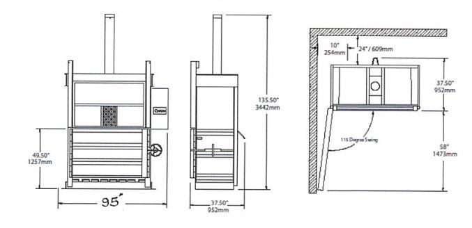 72 Inch Economy Cardboard Baler