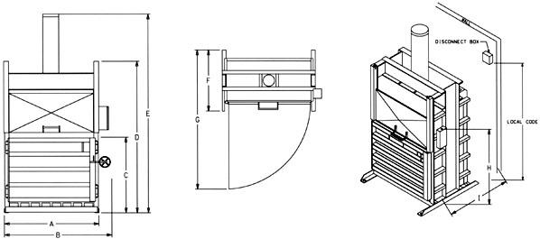 Specs & Details for Standard Cardboard Baler