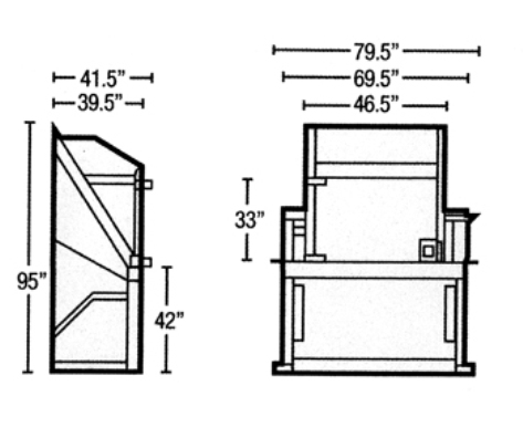 Diagrams for Vertical Outdoor Compactors