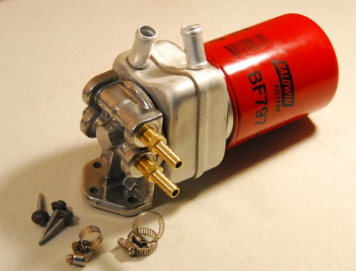 small resolution of diesel fuel filter remote kit