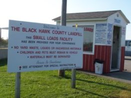Landfill fees apply at the Small Loads Area and Working Face of the Black Hawk County Sanitary Landfill.